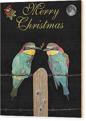 Lesvos Christmas Birds Wood Print by Eric Kempson