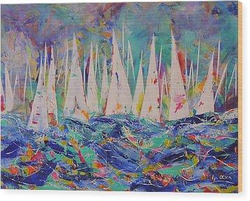 Let The Race Begin Wood Print by Lyn Olsen