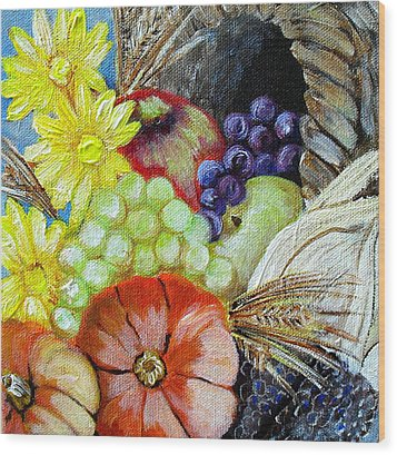 Let Us Give Thanks Wood Print by Melissa Torres