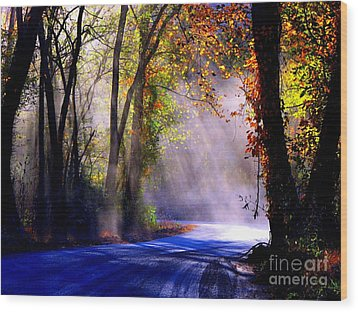 Let Your Light Shine Down On Me Wood Print by Carolyn Wright