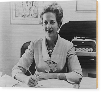 Letitia Baldrige, First Lady Jacqueline Wood Print by Everett
