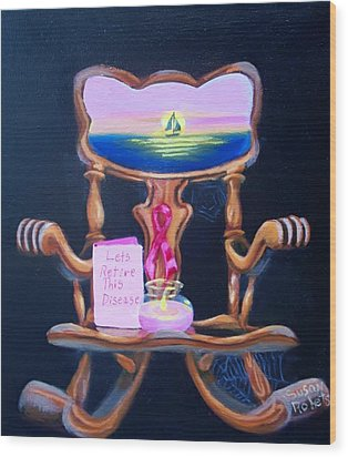 Wood Print featuring the painting Lets Retire This Disease by Susan Roberts