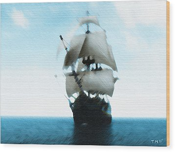 Let's Sail Away Wood Print by Tyler Martin