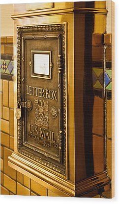Letter Box Wood Print by Lawrence Burry