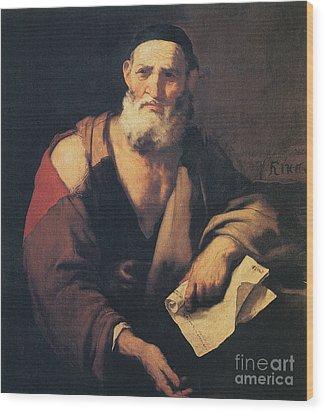 Leucippus, Ancient Greek Philosopher Wood Print by Science Source