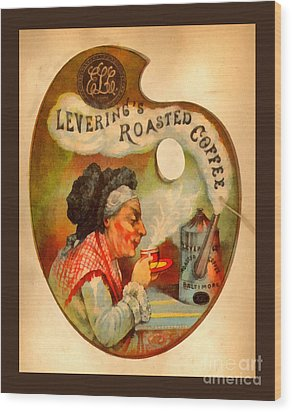Levering's Roasted Coffee Wood Print by Anne Kitzman