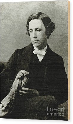 Lewis Carroll, English Author Wood Print by Photo Researchers