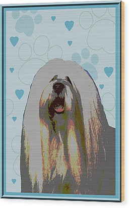 Lhasa Apso Wood Print by One Rude Dawg Orcutt