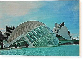 L'hemisferic - Valencia Wood Print by Juergen Weiss