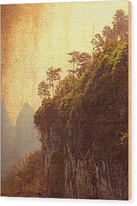 Li River Mountainside Wood Print