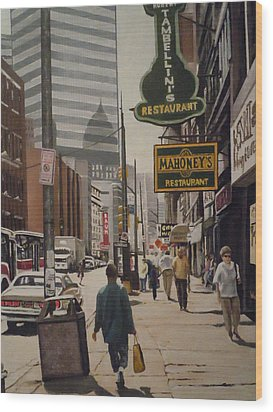 Liberty Avenue In The 80s Wood Print by James Guentner