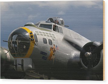 Liberty Belle B17 Bomber Wood Print by Ken Brannen