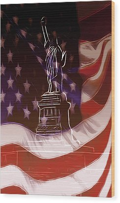 Liberty For All Wood Print by Steve K