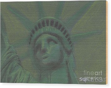 Liberty In Green Wood Print by Stephen Cheek II
