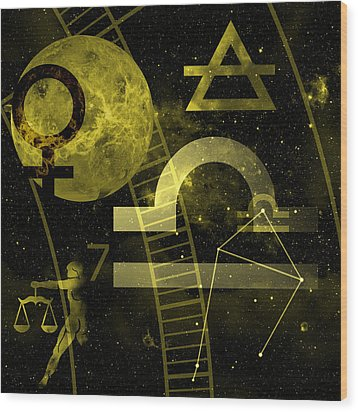 Libra Wood Print by JP Rhea
