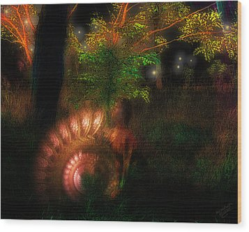 Lichtwesen Wood Print by Mimulux patricia no No