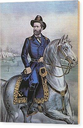 Lieutenant General Ulysses S Grant Wood Print by Photo Researchers