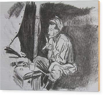 Life In Gallipoli Wood Print by Serene Maisey