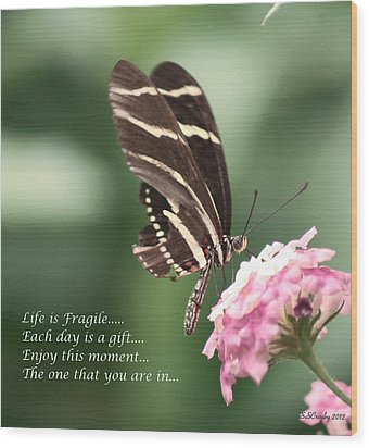 Life Is Fragile Wood Print