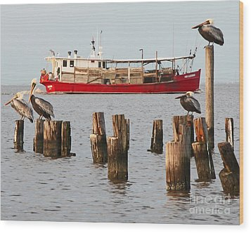 Life On Lake Ponchartrain Wood Print