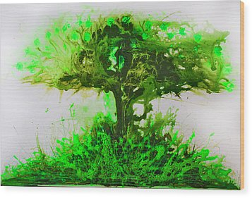 Wood Print featuring the painting Life Tree by Lolita Bronzini