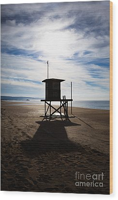 Lifeguard Tower Newport Beach California Wood Print by Paul Velgos
