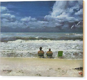 Wood Print featuring the digital art Life's A Beach by Rhonda Strickland