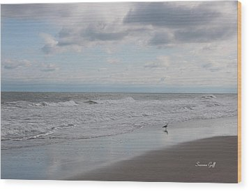 Lifes A Beach Wood Print by Suzanne Gaff