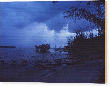Lifting Storm Wood Print by Bob Whitt