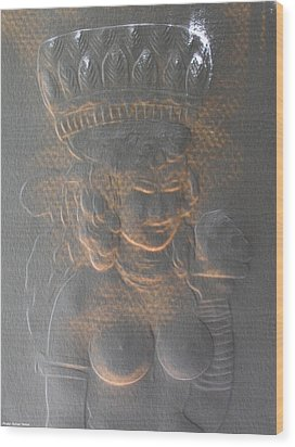 Light Behind Relief Art Wood Print by Suhas Tavkar