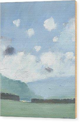 Light Blue Morning Wood Print by Alan Daysh