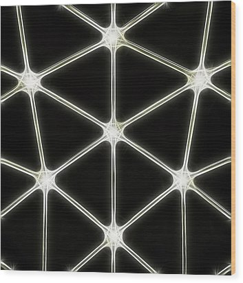 Light Column Wood Print by Odon Czintos