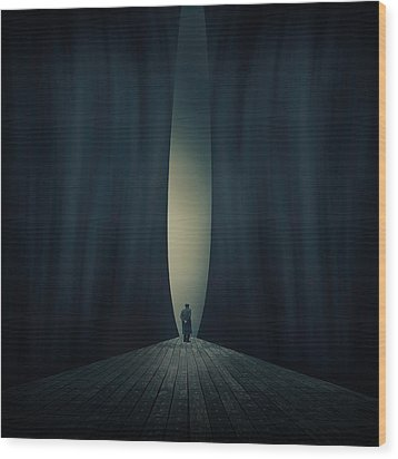Light Wood Print by Ian Barber