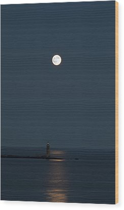Light Of The Moon Wood Print by Sara Hudock