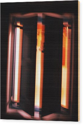 Wood Print featuring the photograph Light Reflections by Colette V Hera  Guggenheim