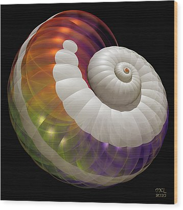 Wood Print featuring the digital art Light Shell by Manny Lorenzo