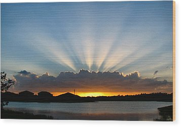 Wood Print featuring the photograph Light Streams by Bill Lucas