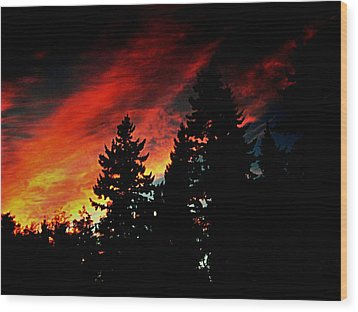 Light The Fire II Wood Print by Kevin D Davis