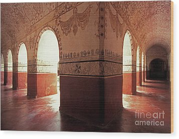 Wood Print featuring the photograph Light Under The Arches Tepoztlan Mexico by John  Mitchell