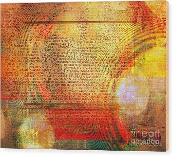 Light Word Wood Print by Fania Simon