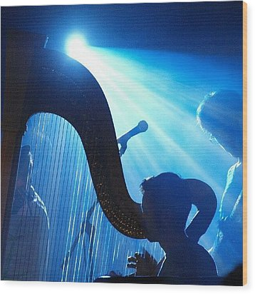 Lighted Harp Wood Print by James Granberry