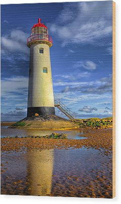 Lighthouse Wood Print by Adrian Evans