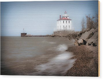Wood Print featuring the photograph Lighthouse At Fairport Harbor by Michelle Joseph-Long