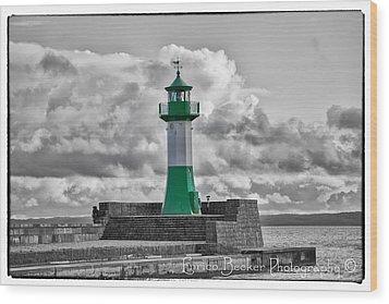 Lighthouse Baltic Sea Wood Print by Enrico Becker