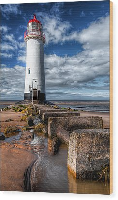 Lighthouse Entrance Wood Print by Adrian Evans