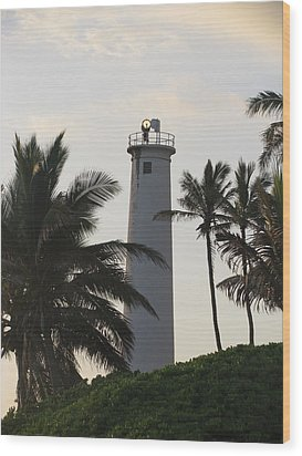 Lighthouse In Hawaii Wood Print
