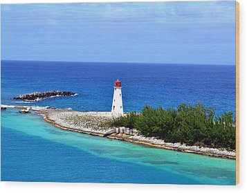Wood Print featuring the photograph Lighthouse In Nassau by George Bostian