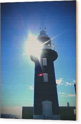 Wood Print featuring the photograph Lighthouse In The Sunlight by Roberto Gagliardi