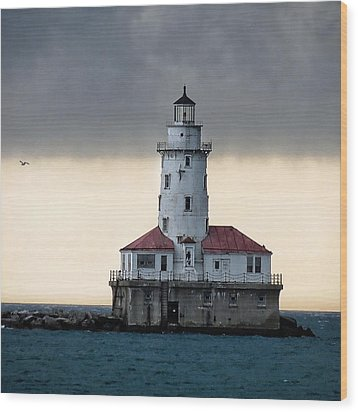 Wood Print featuring the photograph Lighthouse by Nikki McInnes