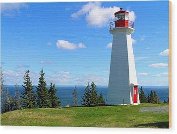 Lighthouse On Nova Scotia Wood Print